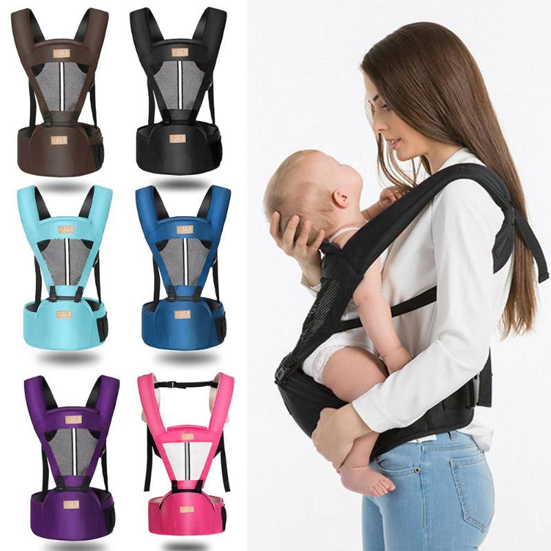Breathable Baby Kangaroo Carrier Soft Surface Process Lined With Polyester Summer Newborn Toddlers Sling Hipseat Stool