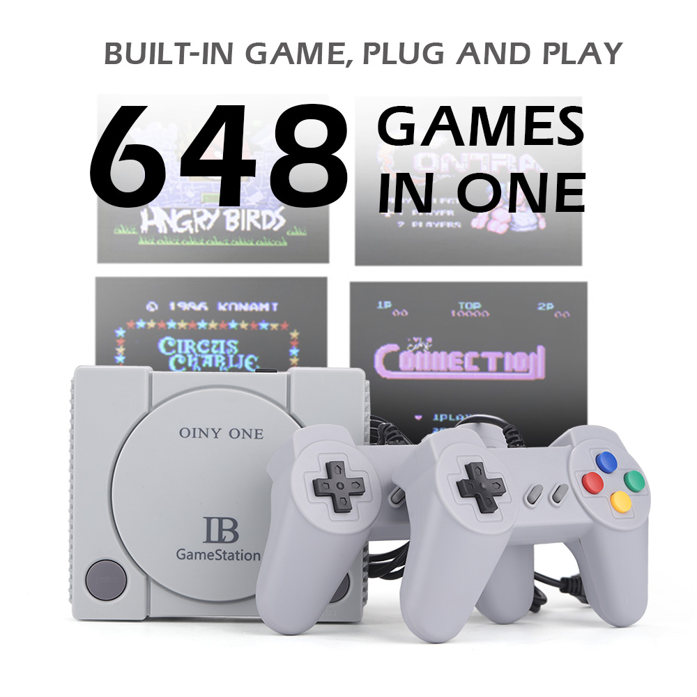 RS-70 Portable Game Console Retro Game Station with 2 Player Handles Built-in 648 Classic Games for Video Game Lover Kids