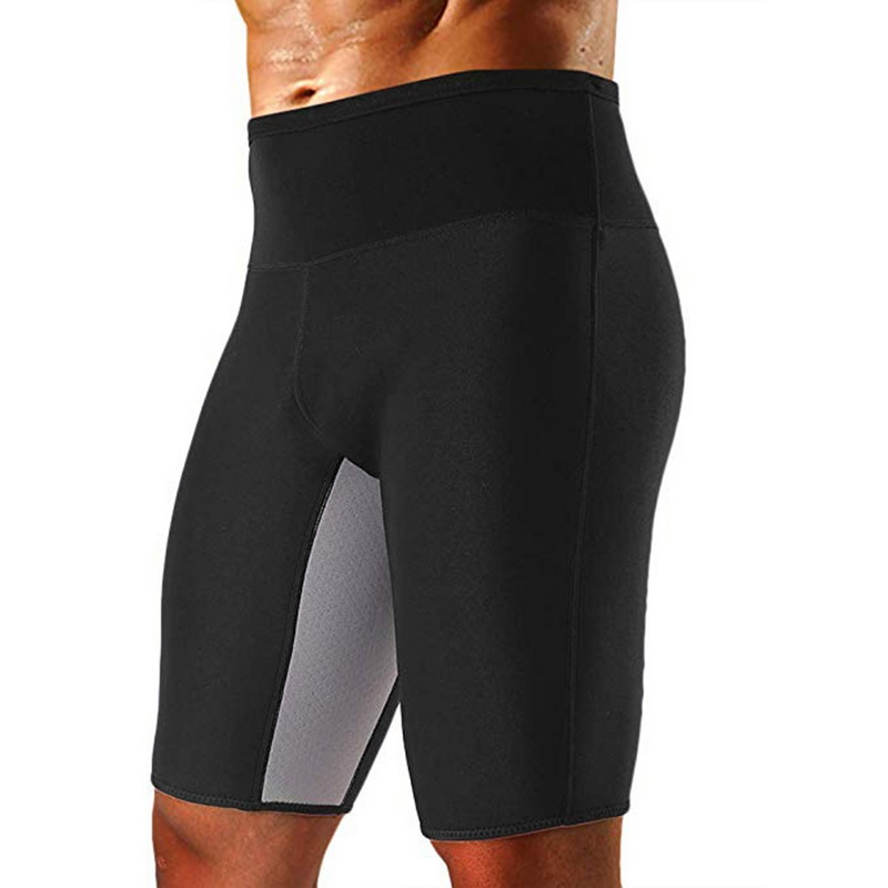 DIHOPE Mens Weight Loss Sauna Sweat Thermo Shorts 2019 New Body Shaper Athletic Yoga Gym Shorts Male Autumn Sports Shorts