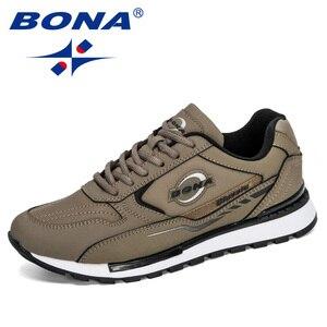 BONA 2020 New Designers Nubuck Leather Trendy Sneakers Men Outdoor Casual Shoes Man Sapato Masculino Krasovki Zapatos De Hombre