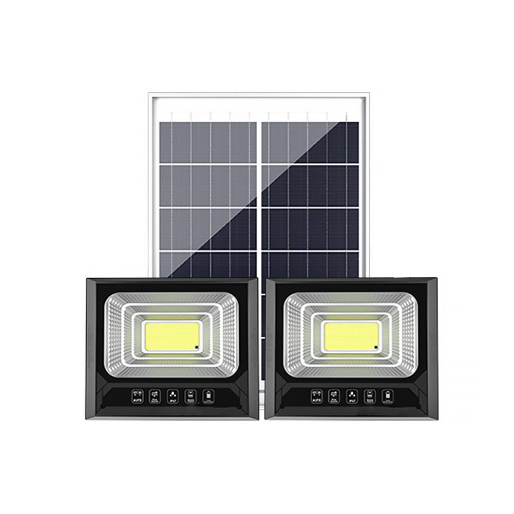 90-137 diodo emissor de luz solar controle remoto contro energia solar led luz de parede de inundação à prova dwaterproof água jardim ao ar livre lâmpada solar de segurança com linha de 5m