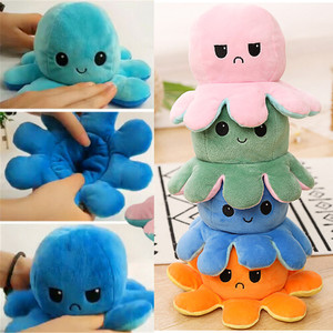Octopu Doll Double-sided Flip Octopu Plush Toy Chirdren Kids Birthday Gift home Reversible Octopus Stuffed home decoration F