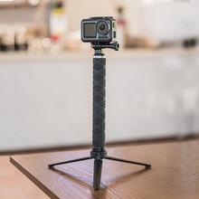 TELESIN Carbon Fiber Selfie Stick with tripod VS Aluminium Alloy selfie stick For Go Pro Hero 8 7 6 5 2018 Osmo Action Camera