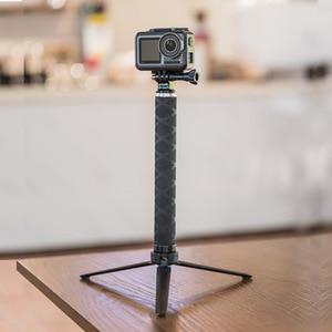 Image 1 - TELESIN karbon Fiber selfie sopa ile tripod VS alüminyum alaşım selfie sopa gitmek için Pro kahraman 8 7 6 5 2018 Osmo eylem kamera