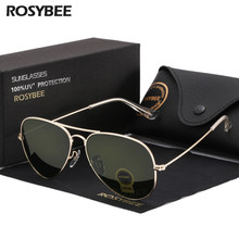 High Quality G15 Glass Lens women men Sunglasses uv400 aviation brand classic mirror male oculos vintage banned man sun Glasses(China)