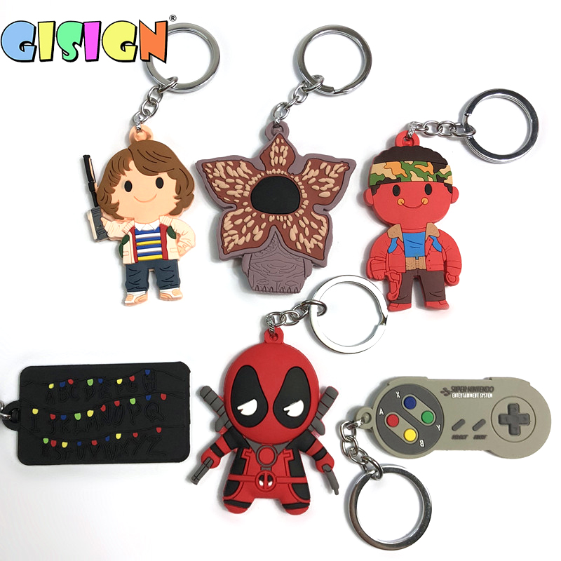 2019 New Stranger Things Theme Keychain Hot Toys Action Figure Collectible Model Vinyl Dolls Keyring Children Cute Gift Toys