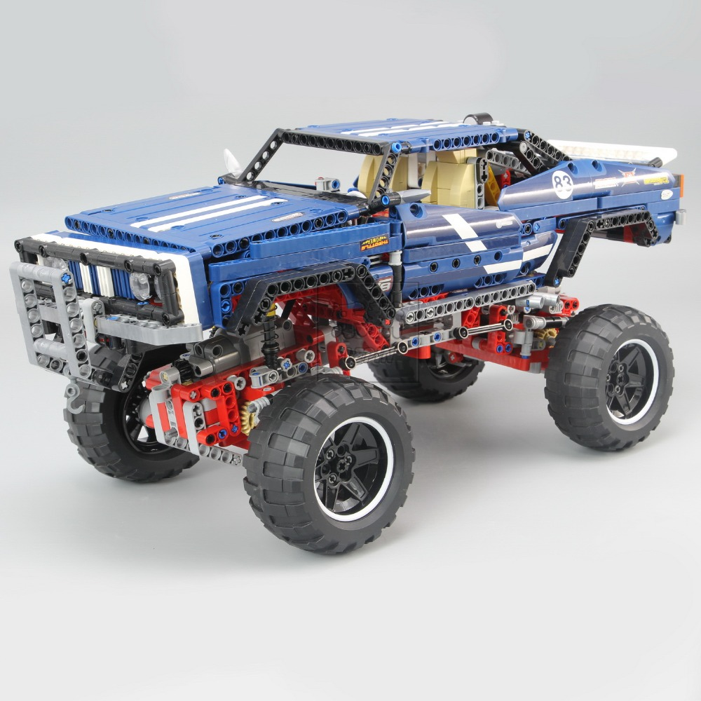 20011 Technic series Motor Power 4x4 Crawler Assembly Car Set Model Kit Building Blocks Bricks Compatible With legoing 41999 TOY 13