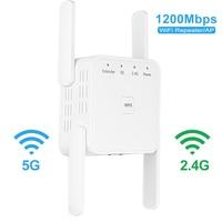 5 Ghz WiFi Repeater Drahtlose Wifi Extender 1200Mbps Wi-Fi Verstärker Lange Palette Wi fi Signal Booster 2 4G 5G wifi Repiter NEUE
