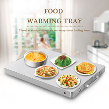 ITOP Food Warming Tray 400W Stainless Steel Hot Plate Buffet Electric Heating Board Food Warm Machine Large Insulation Area dz 2 warming lamp 2 head lamp hotel buffet professional heating machine