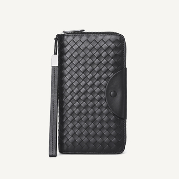Leather Handbag Men Casual Long Wallet Women Soft Cowhide Leather Wallets Hand Made Multi-card Position Purse Unisex  Bag