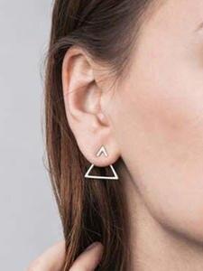 Triangle Earring Wholesale Jewelry Trendy Personality Three-Ways Simple Wear Women To