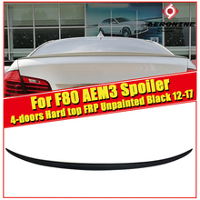 For BMW F80 M3 Sedan Trunk spoiler wing FRP Unpainted M Performance 2012-2017 3 Series 320i 328i 335i 326D Rear Diffuser wings