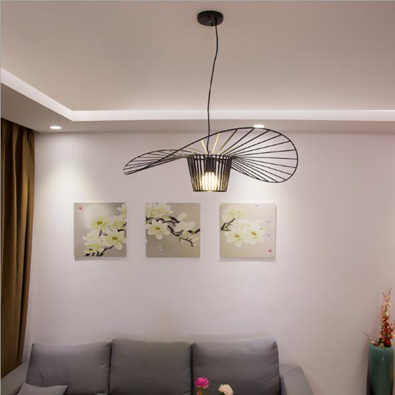 Image 4 - black white Ceiling Lights for living room bedroom restaurant modern ceiling lamp industrial lamparas de techo fixtures lighting-in Ceiling Lights from Lights & Lighting