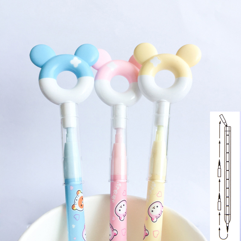 1Pc Cute Donuts Pencil Kawaii 2.0mm HB Drawing Writing Pencil Novelty Replaceable Pencil Refill For Kids Girls School Stationery