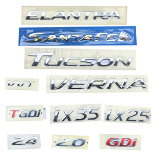For Hyundai Ix25 IX35 Verna Tucson Santafe Elantra 2.0 2.4 GDI TGDI VVT Trunk Letter Logo Badge Emblem Sticker Car Accessory