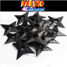 Naruto Shuriken Cosplay Costumes Props Black Ninja Weapon Model Plastic Toy
