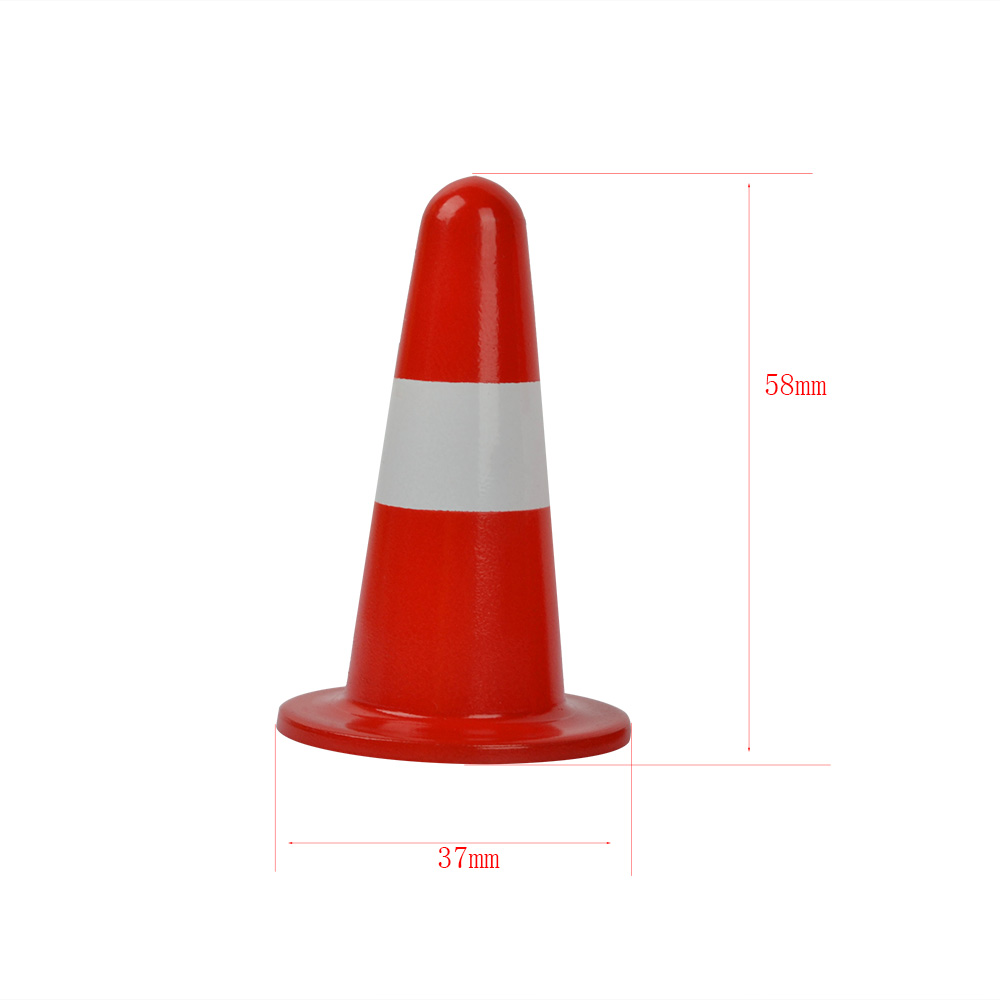 1PCS Metal Training Road Cones Pylons Barricades Traffic Cone Obstacle Pile for <font><b>1/10</b></font> RC Car <font><b>Accessories</b></font> image