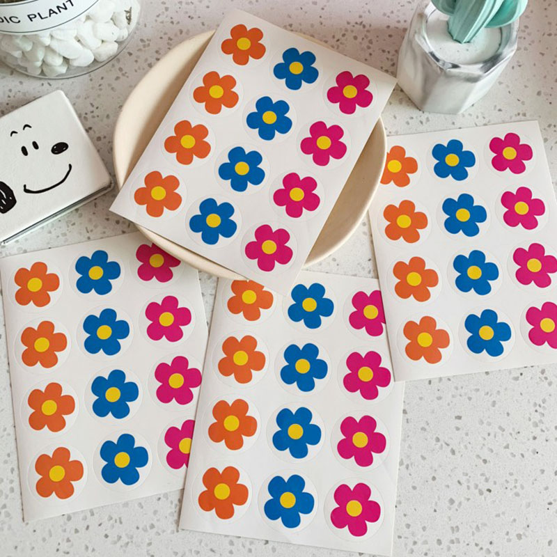 2 Sheets Kim Hyun Colorful Flower Girl Papers Stickers Flakes Cute Romantic Love Diary Decoration Diy Scrapbooking Sticker