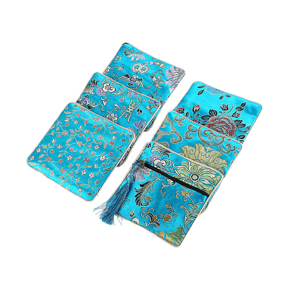 Chinese Embroidery Jewelry Bag Storage Organizer Handmade Embroideries Earphone Bag Classic Small Pouch