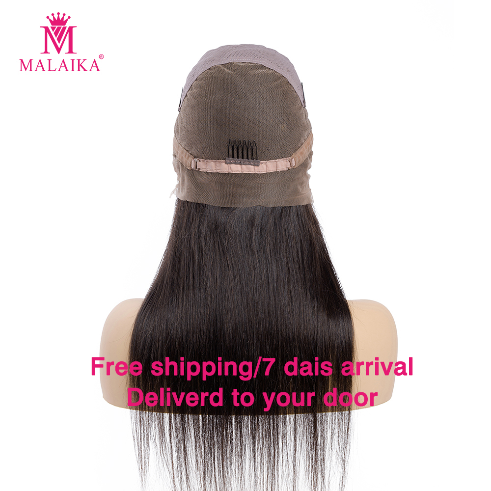 Full Lace Human Hair Wigs For Women Pre Plucked 130% Density Human Hair Wigs MALAIKA HAIR Malaysian Straight Full Lace Wig