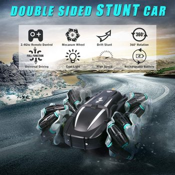 1/18 Remote Control Car Drift Race Sunt 4WD 2.4Ghz 360Rotation RC Car Electric Double Sided Rotating Car Boys Toy Christmas Gift image