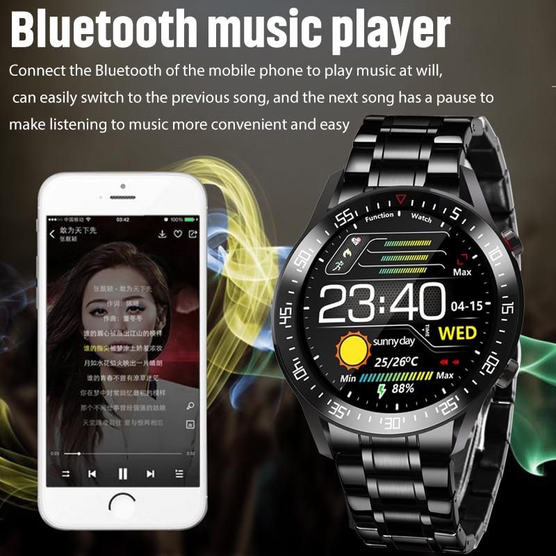 LIGE 2020 New Steel Band Color Screen Smart Watch Men Multifunctional Sport Heart Rate Blood Pressure IP68 Waterproof Smartwatch
