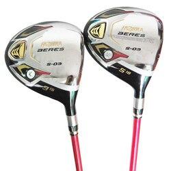 womens Golf Clubs HONMA S-03 Golf Fairway Woods set 3/15 5/18 Graphite Golf shaft L flex Club headcover Cooyute  Free shipping