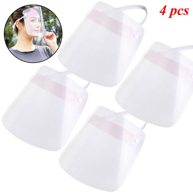 1/2/4/10 PCS Full Face Shield Mask Clear Flip Up Visor Protection Safety Work Guard For Droplet, Dust,Oil Fume(Pink) 3