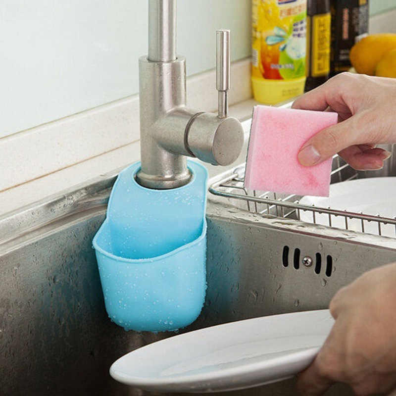 1 Pc Dapur Mandi Rak Snap Pengikat Wastafel Gantung Tas Penyimpanan Keranjang Organizer Kamar Mandi Kotak Tiriskan Faucet Busa Dudukan Gadget