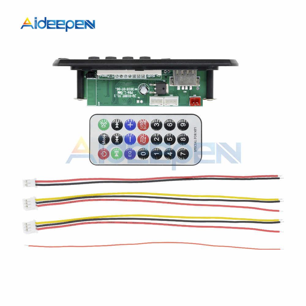 Senza fili di Bluetooth 12V MP3 WMA Scheda di Decodifica Audio Modulo USB TF di FM Radio Audio Modulo MP3 Player Con Telecomando per Auto