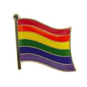 Image 4 - ゲイプライドレインボースターバイセクシャルトランスジェンダー旗ラペルピンバッジエナメルバッジブローチジーンズシャツクールギフト (900 ピース/ロット)