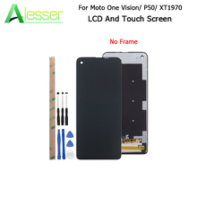 Alesser For Motorola Moto One Vision XT1970 LCD Display And Touch Screen 6.3 Repair Parts For Moto P50 Phone + Tools +Adhesive