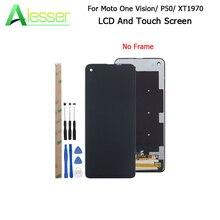 ЖК дисплей Alesser для Motorola Moto One Vision XT1970, сенсорный экран 6,3 дюйма, запасные части для телефона Moto P50, инструменты и клей