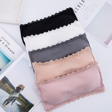 Seamless One-piece Tube Tops Women Strapless Padded Bra Bandeau Tube Top Women Intimates 8inch rainbow pet downward curved shark thinning scissor pet shear grooming clipper pet supplier dog cat hairdressing clipper