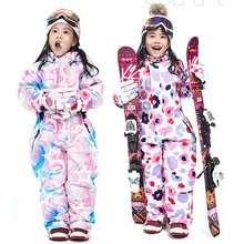 Jumpsuit Snowboard One-Piece Overalls Snow-Clothes Ski-Suits Girls Waterproof Winter