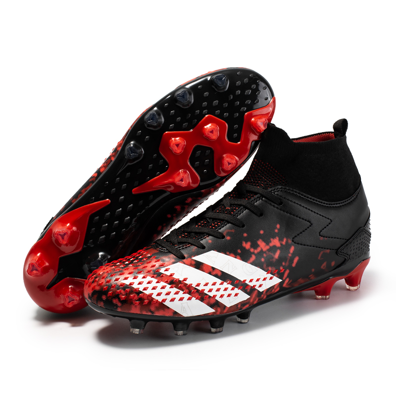 Men Football Boots Outdoor High Top Sneakers Man Kids Soccer Shoes Cleats Athletic Sport AG Fustal Chaussures Hombre Turf Shoes 1
