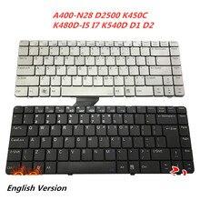 Laptop Englisch Tastatur Für Hasee A400-N28 D2500 K450C K480D-I5 I7 K540D D1 D2 HEA4401 notebook Ersatz layout Tastatur