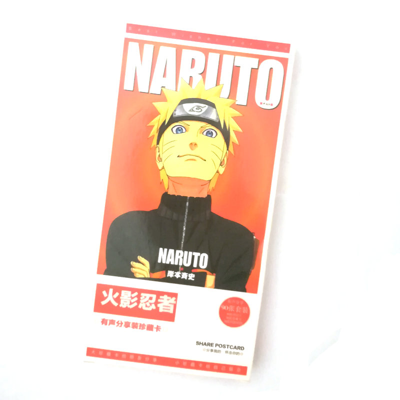 90pcs/box Naruto Anime Postcard Greeting Card Message Card Christmas Gift Toys For Children