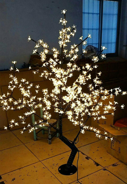 Russie livraison gratuite 1.5 mètre blanc chaud led cerisier fleur arbre lumière en plein air noël mariage vacances lumière décor étanche