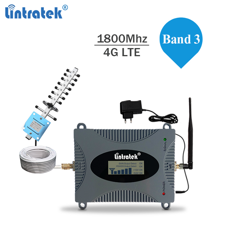 Lintratek 4G Signal Booster 1800Mhz LTE 4G Repeater 1800 Booster Ampli Mobile Phone Internet Signal Repeater LTE Band 3 DCS