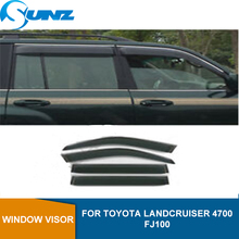 Window Visor for TOYOTA LANDCRUISER 4700 FJ100 side window deflectors rain guards SUNZ
