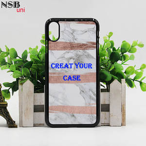 NSB uni For I phone XS MAX Personal Custom Made Sublimation Cases DIY Heat Transfer Mobile Phone Cover Shells For I phone