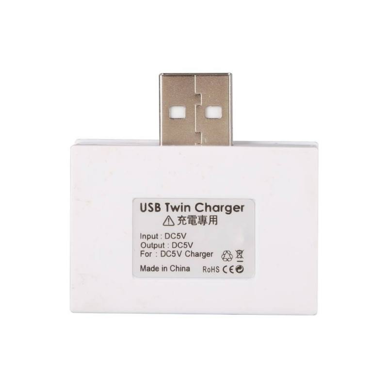 Купить с кэшбэком Portable USB 2.0 Twin Charger 2 Port Charging Adapter Splitter Hub Phone Computer USB Flash Disk Mouse Keyboard Accessories