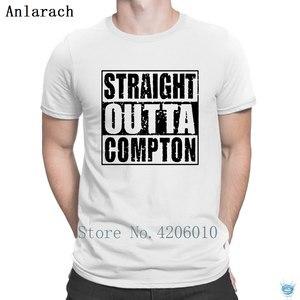 Tout droit sorti Compton californie T-Shirts 100% coton lettre personnalisé printemps hommes t-shirt couleur unie offre spéciale sites web comiques