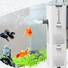 Bomba de filtro de aquário 4 em 1 tanque de peixes submersível oxigênio de ar bomba interna bomba de onda de aquário bomba de água bomba de powerhead