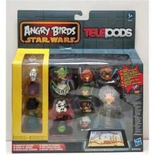 Hasbro angry birds star wars encontrar vermelho chuck bomba matilda leonard telepods catapulta jogo de desktop brinquedos