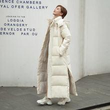 Uvrcos зимняя куртка пуховик толстый длинный Парка на пуху для