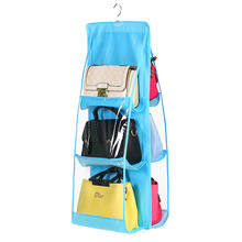 Hanging Storage Bag Closet Wardrobe Organizer Dust Bag for Handbag 6 Pocket Home Storage Sundry Shoe Door Wall Hanging Pouch