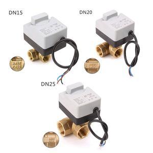Image 1 - AC220V 3 Weg Elektrische Motorkogelklep Drie Draad Twee Controle Voor Airconditioning