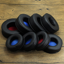 Replacement Parts Memory Foam Ear Pads Cushion EarPads for Headphones Black Bblue Red Mesh Fabric 80MM 85MM 90MM 95MM 100MM 105 anti protein skin ear pads for 50mm 55mm 60mm 65mm 70mm 75mm 80mm 85mm 90mm 95mm 100mm 105mm sponge set sh